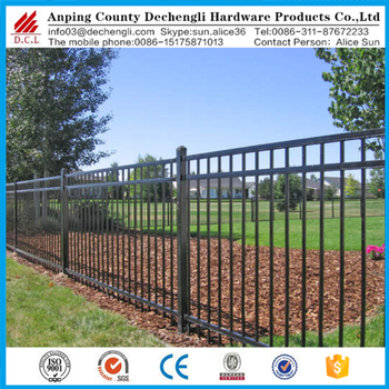 Whole Price Black Aluminum Fence Wrought Iron