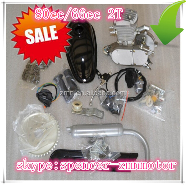66cc bicycle engine kit/ 2 stroke engines for sale / gas moped with pedals