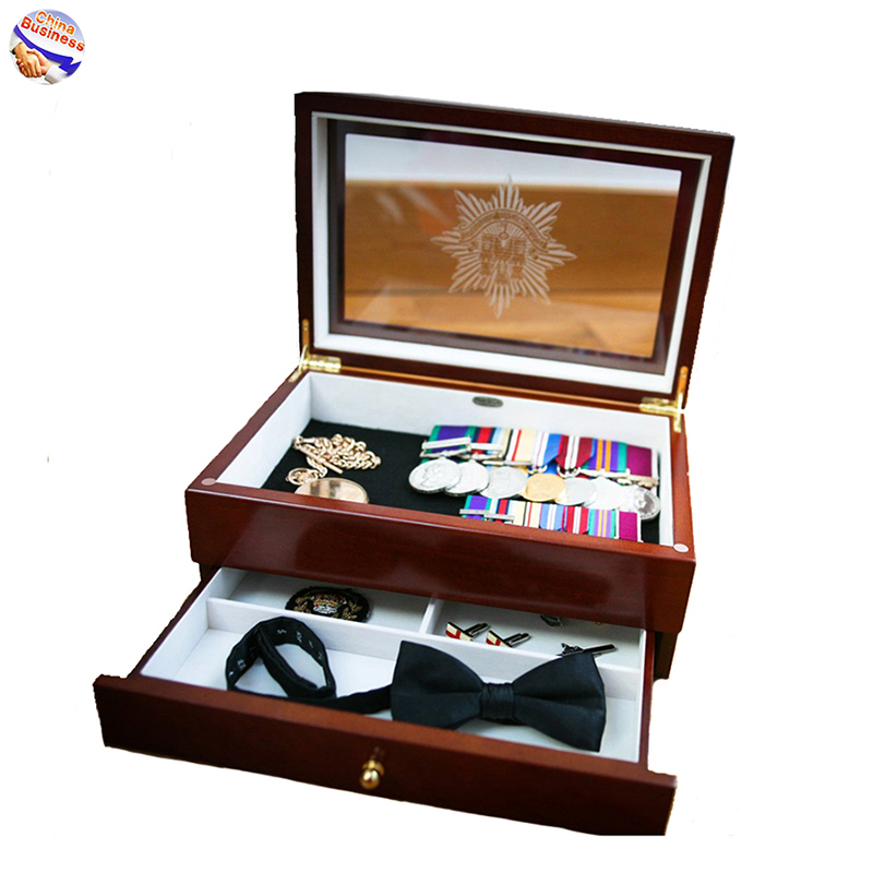 TOP 1 OEM ODM Wood Box Packaging Boxes with Drawer Glass Lid 17625931888@yeah.net