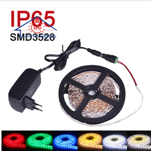 SMD5050 LED Strip Light Waterproof IP65 Multi Color Changeable Ribbon Tape With Power Adapter