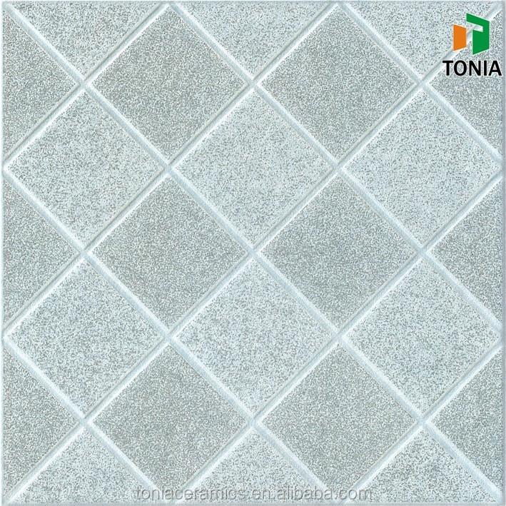 Prism Design Ceramic Tiles Light Blue Mix Grey Color Rustic Ceramic
