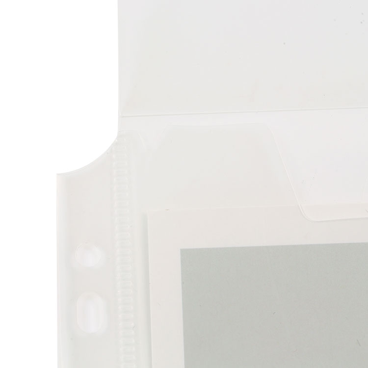 A4 Letter Size Side-Opening Clear Poly Binder Pocket with Hook & Loop Closure