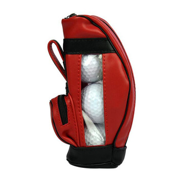 Custom golf Ball Bag leather mini three Pieces ball bag Wholesale hook up ball Sports bag