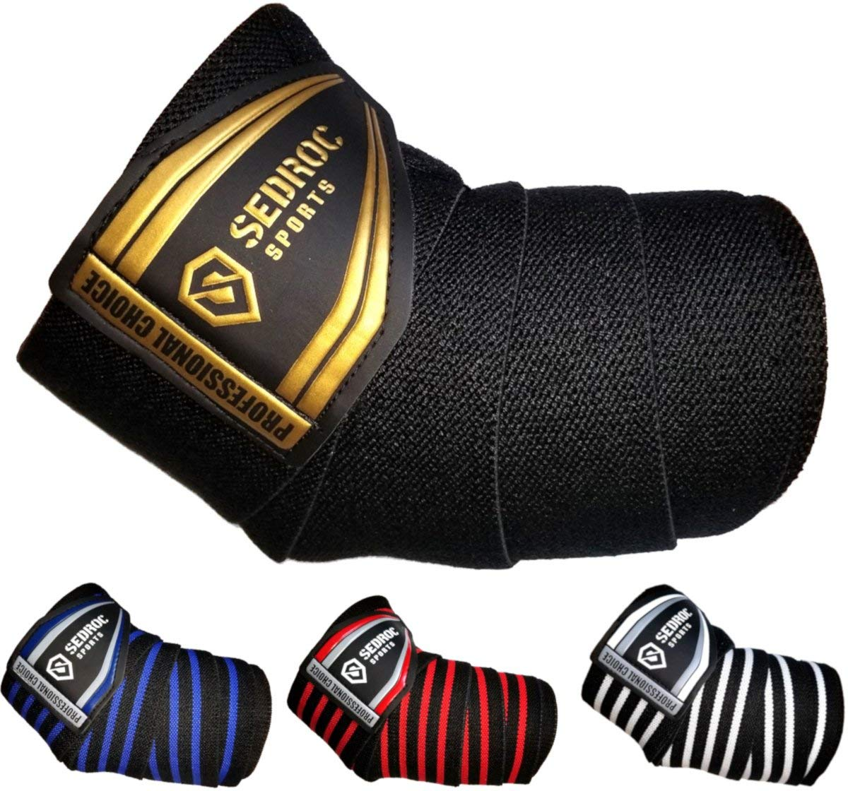 2028081889 Get Quotations · Sedroc Sports Professional Weight Lifting Elbow Wraps  Powerlifting Support Sleeves - Pair