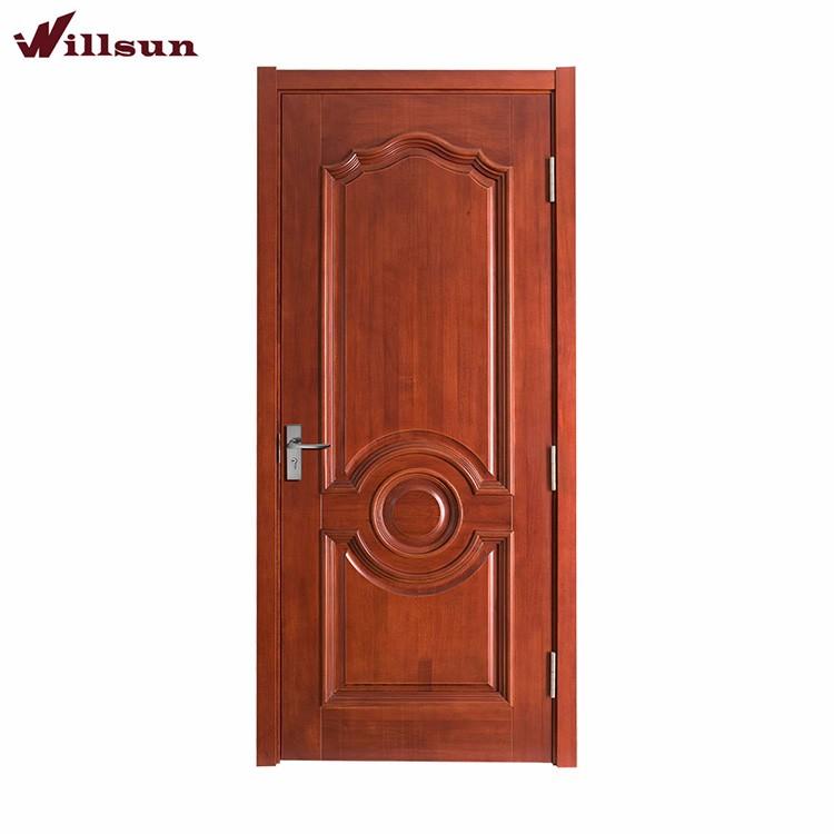 Nuevo modelo estilo europeo puertas de entrada de madera for Modelos de puertas para entrada principal