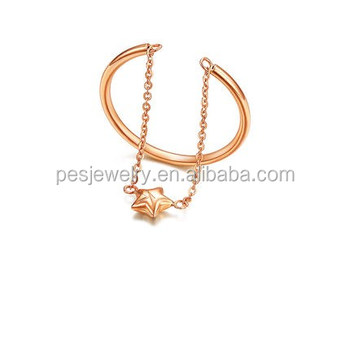 PES Fashion Jewelry! Slave Star Chain Open Size Adjustable Ring (PES6-1986)