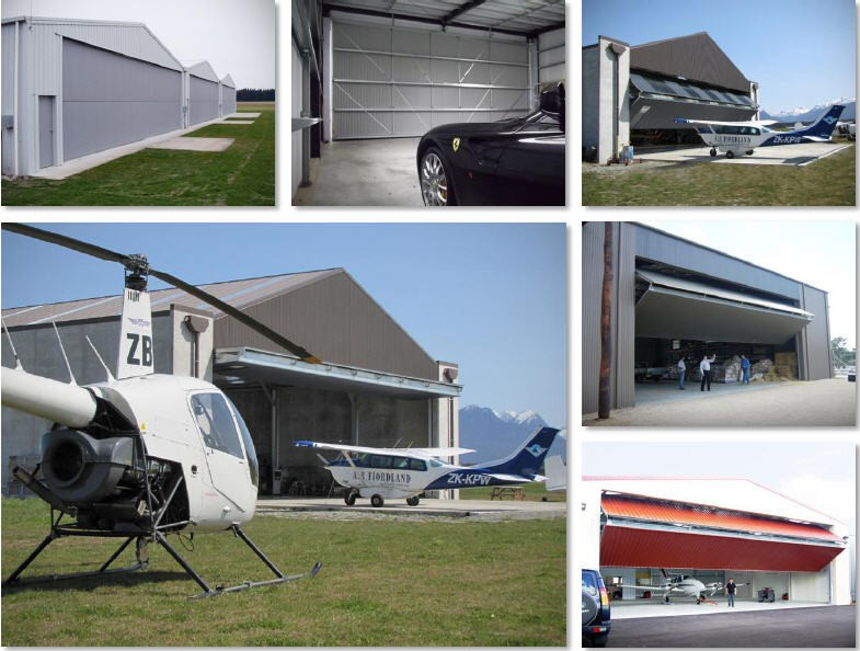 movable industrial hangar accordion door
