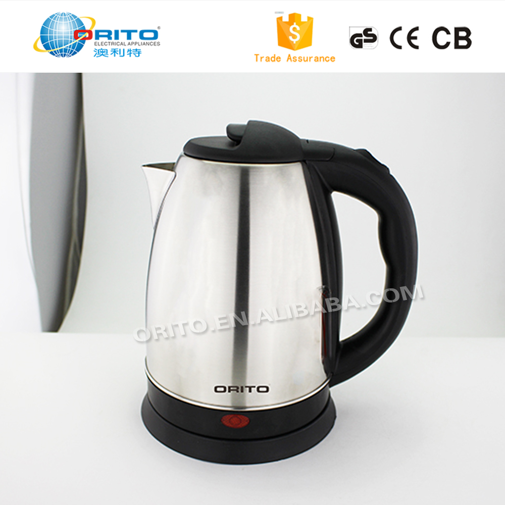 ORITO 2017 New Design Electrical Appliances 1.8L Stainless Steel Electric Kettel
