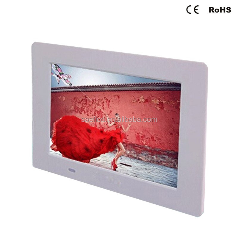 7 Inch Wall Mount Digital Frame Photo Hd 1024x600 Lcd Advertising ...