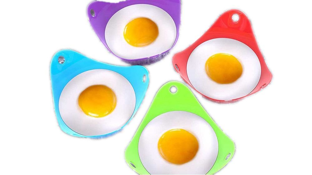 YSGE 4pcs Silicone Egg Poacher Poaching Pods Pan Poached Cups Mould Kitchen Cookare
