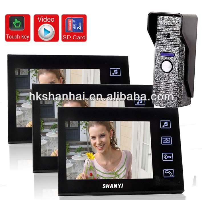 2.4Ghz touch screen 7 inch color intelligent commax video door phone