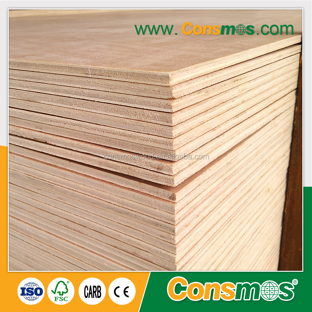 Consmos 18mm cheap WBP glue waterproof plywood prices,laminated birch poplar plywood board for sale