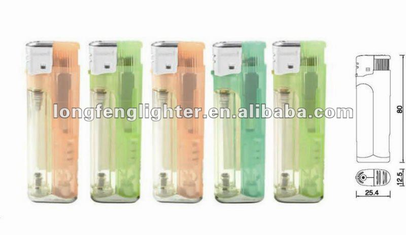 Transparent LED plastic lighter with ISO9994 , CPSC and EN13869