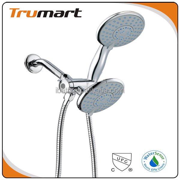 Twin Spray Shower Head Combo Shower Set Hand Shower