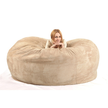 6pn Giant Foam Bean Bag Bed Chair Lazy Sofa Lounge Furniture