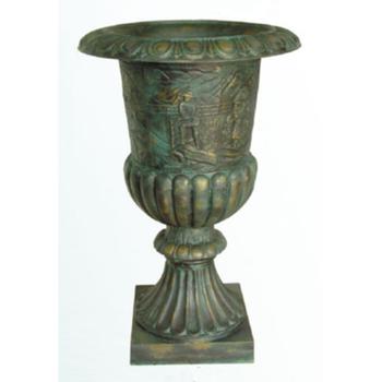 China Supplier Metal Flower Pot Large Cast Iron Garden Urns For Sale , Buy  Cast Iron Urns,Cast Iron Garden Urns,Metal Flower Pot Product on