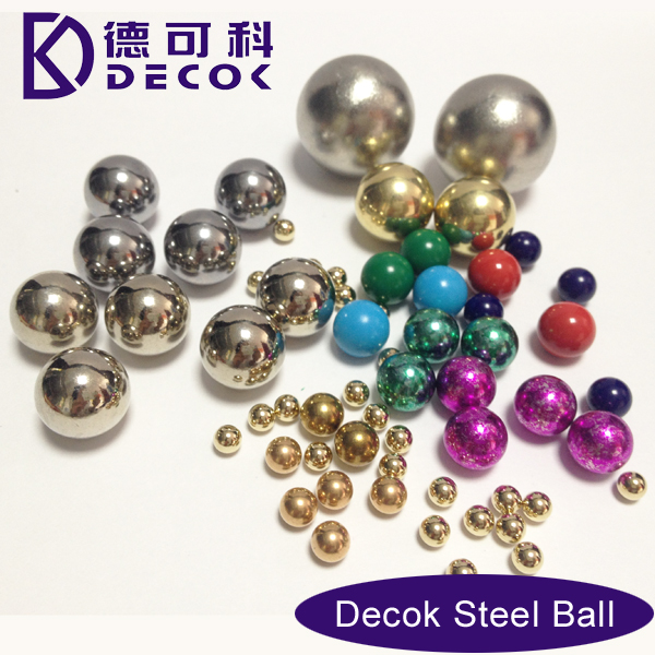 Zinc/Silver/Tin/Gold/Chrome/Copper/Brass plater steel ball