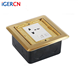 Canton Fair Hot Sale Floor Mounted Hidden Power Socket/CE Approved Copper Alloy Hidden Style Multi Floor Outlet Box