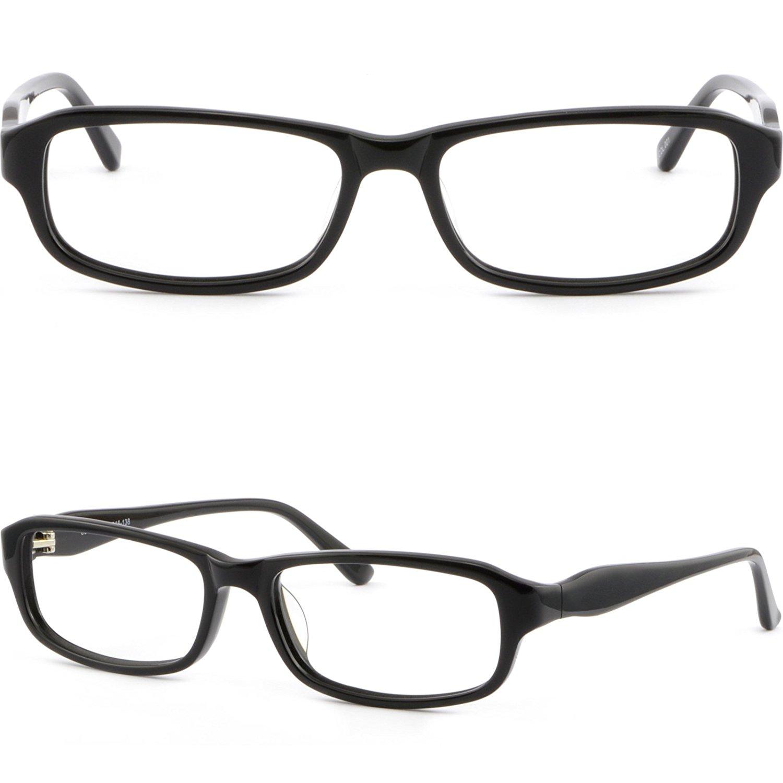 Full Rim Acetate Frames Unisex Prescription Glasses Sunglasses Black