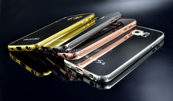 best authentic 4cbc8 dc569 Gold Glossy Case For Samsung Galaxy S6 Luxury Hard Metal Aluminum Frame  Ultrathin Mirror Acrylic Back Cover For Galaxy G9200 - Buy S6 Metal  Aluminum ...