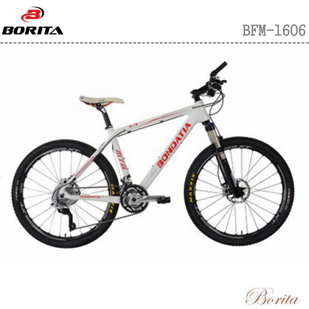 2017 Borita Hot Selling Carbon Fibre Frame Suspension Fork Mountain Bicycle