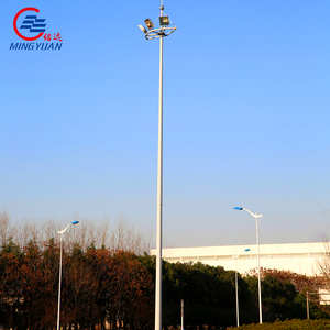 25 meter galvanized high mast light pole