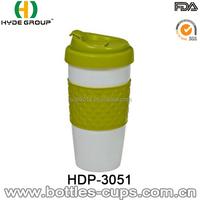 New Design 16oz Double Wall Plastic Travel Coffee Mug With Lid