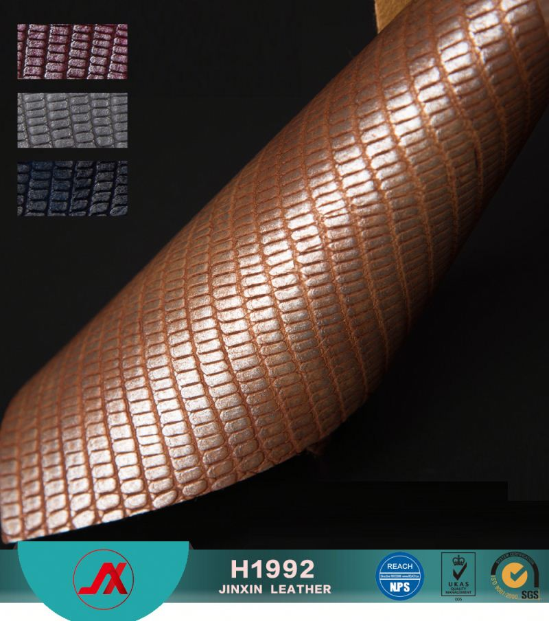 china colorful pvc synthetic leather snake /crocodile leather for bag for furniture for decoration