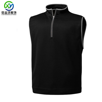 OEM sleeveless 100% Cotton  Light Weight quick dry  men's 1/4 zip jacket Golf Vest Sport Jacket Winter Outdoor