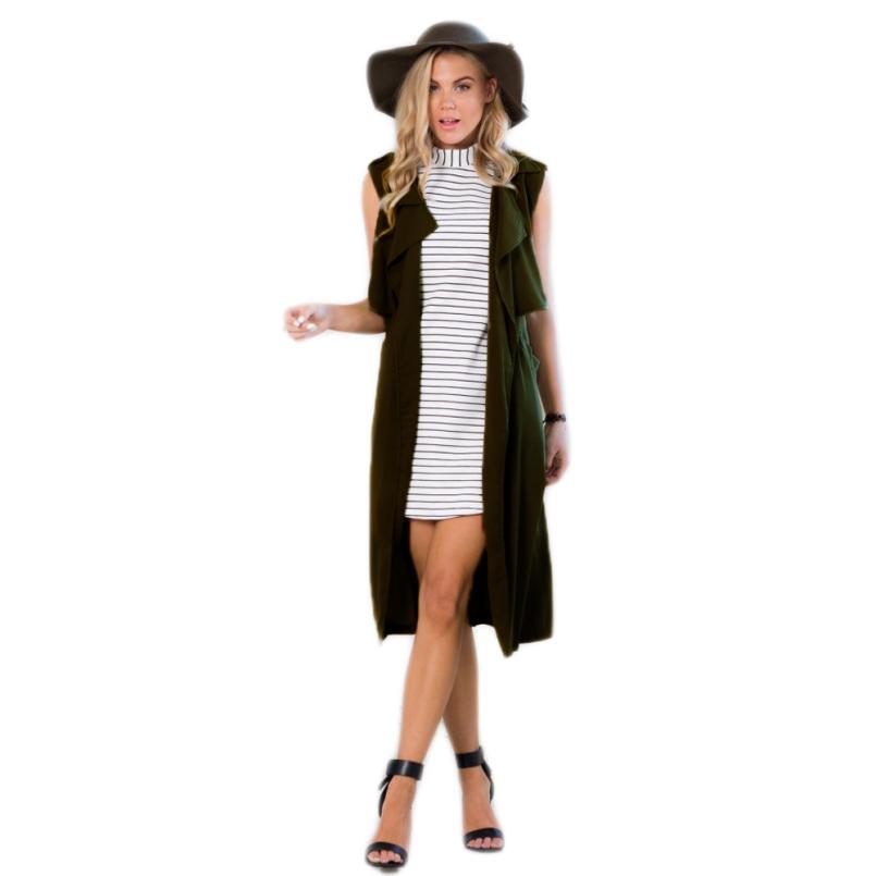 Практичный дизайн европейский мода стиль женщины дамы с без рукавов блейзер костюм жилет куртка пальто colete feminino бесплатная доставка