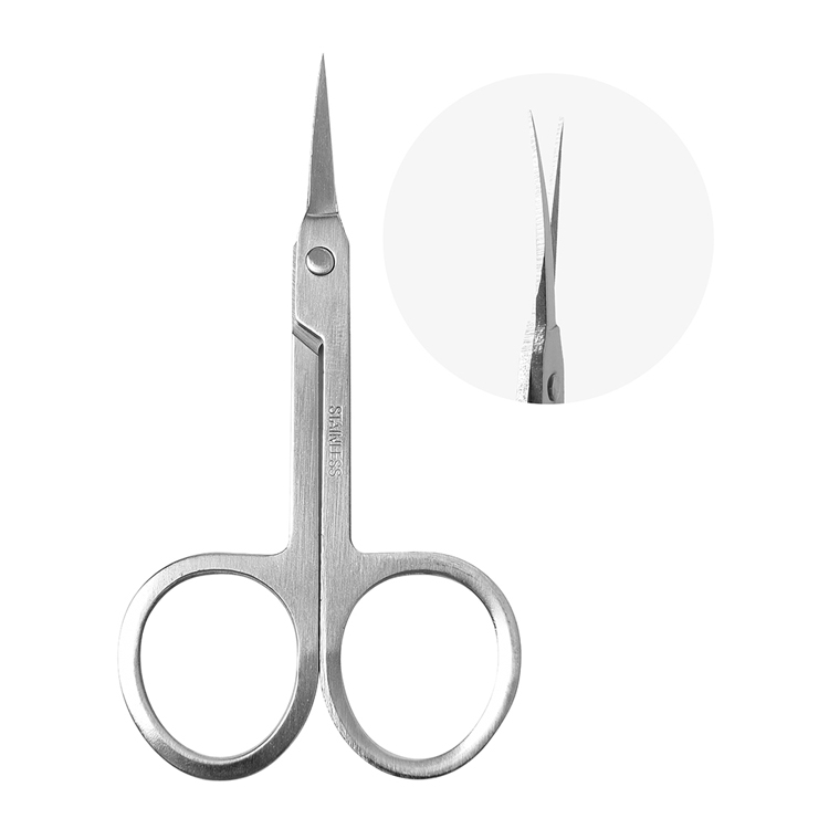 High quality beauty care tools metal beard trimming scissors brow trim wholesale small salon scissors