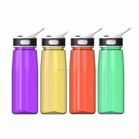 New Products Blank Bottle Running Water Bottle With Handle & Suction Nozzle,800ML
