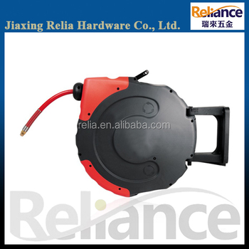 20m auto retractable air hose reel with mounting handle for garage - Retractable Hose