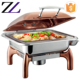 Philippines sale rose gold copper buffet server hydraulic chefing dish restaurant table food display plate warmer