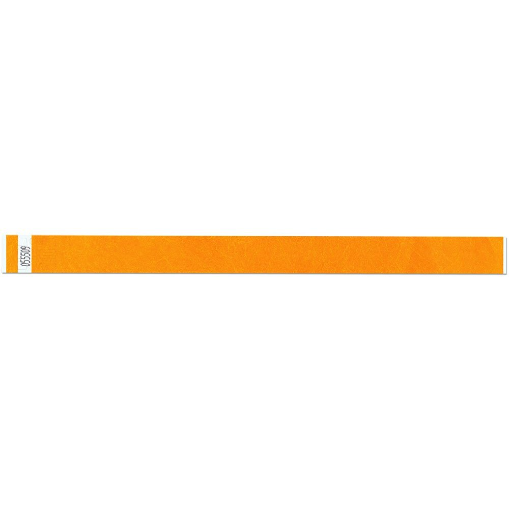 3/4 Inch Tyvek Tytan-Band® Wristbands - Economical Comfortable Tear Resistant - Goldenrod - 500 Pieces Per Box