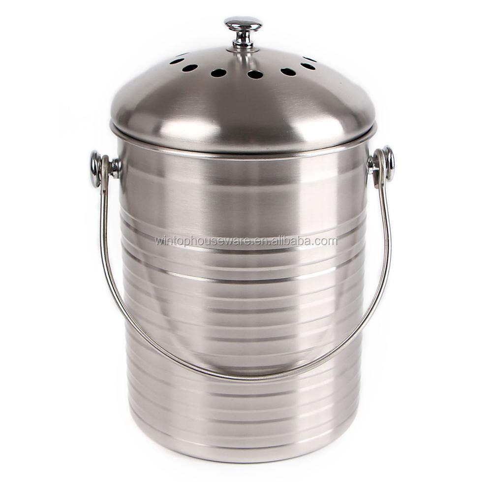 Offre Speciale D Interieur Mini Compost Seau De Haute Qualite Cuisine 304 En Acier Inoxydable Bac A Compost Avec Filtre Buy Bac A Compost Bac A