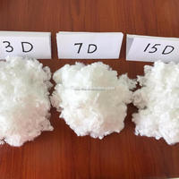 HCS virgin polyester staple fiber 3D,6D,7D,15D