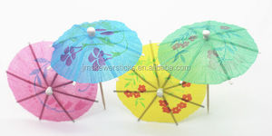 Carnival Time paper cocktails stick umbrellas for drink decoration
