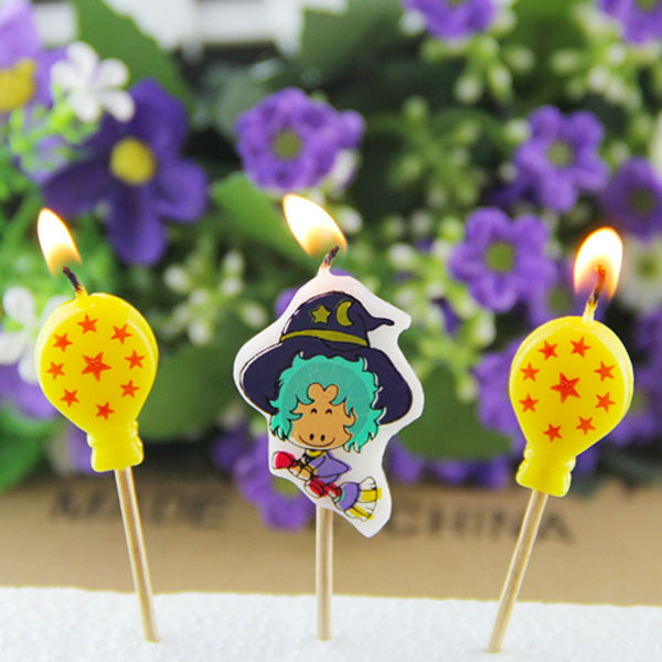 magic broom witch pick birthday party candles