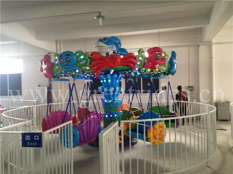 Small investment cheap amusement park rides children carnival games mini flying chair swing carousel ride for sale