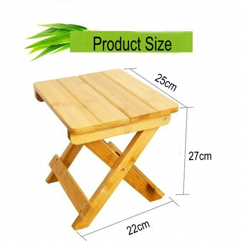 Wholesale Custom Extensible Foldable Bamboo Bench