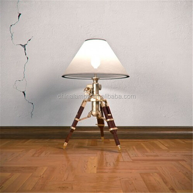 Rechargeable led table lamps black tripod table lamps with warm linen lampshade for film studio lighting decoration