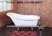 freestanding cast iron enameled bathtub,freestanding enamel bathtub