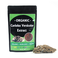 Organic Bio Herb Mushroom Suppliers Coriolus Versicolor Turkey Tail Extract Powder