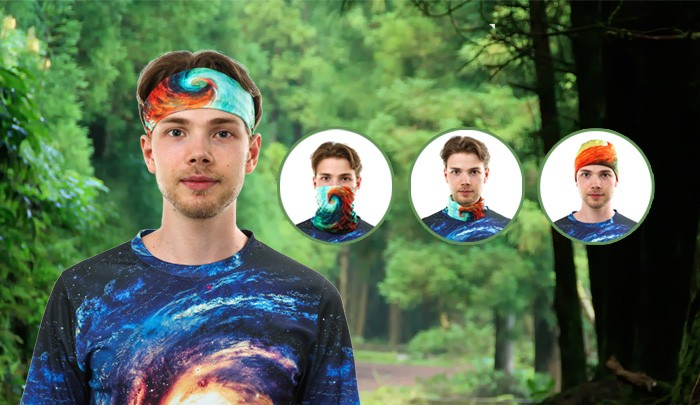 Wholesale Outdoor Sports Head Scarf /Seamless Tube Fabric Multifunction Headwear Bandanas
