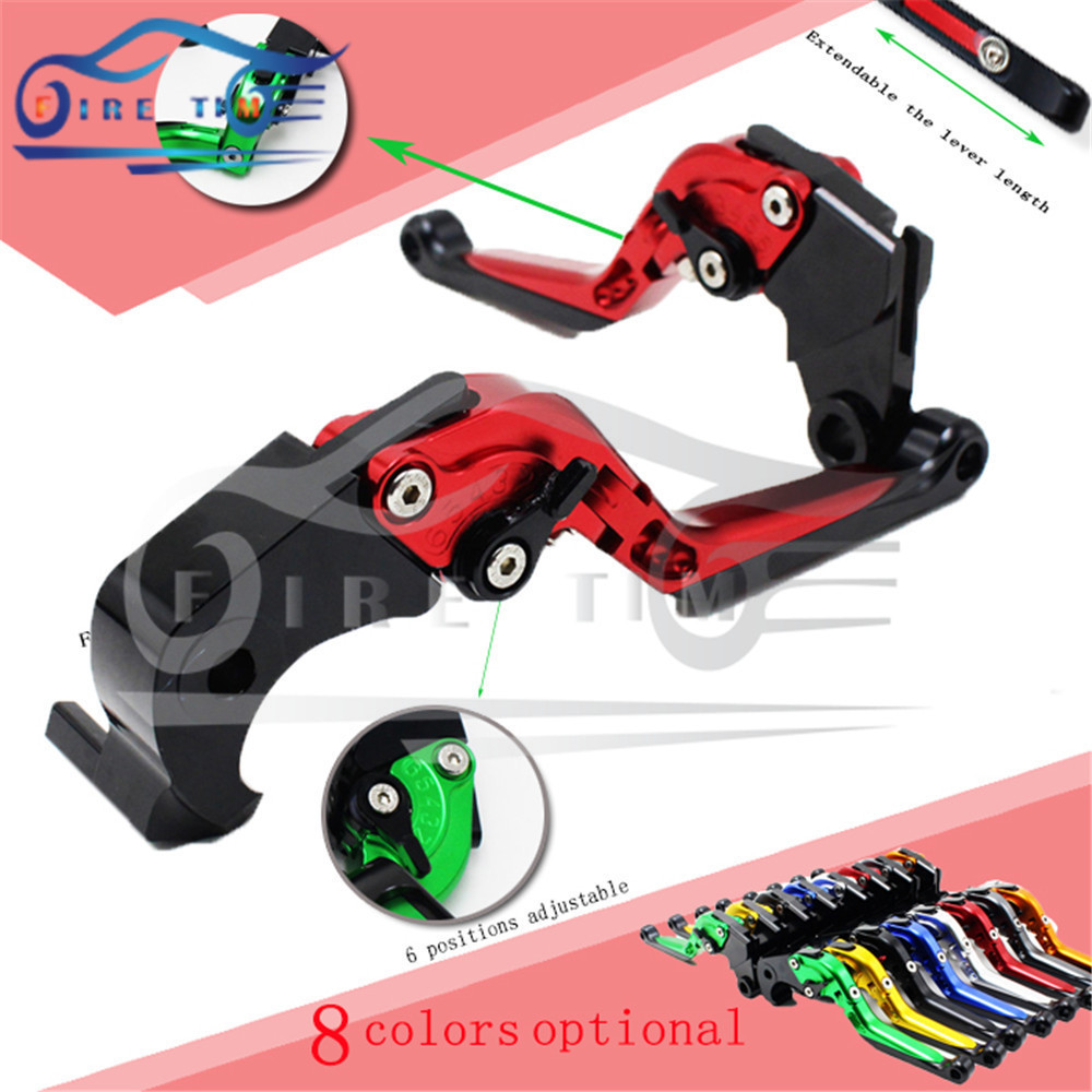 foldable&extendable&adjustable motorcycle brake clutch levers red color CNC brake clutch lever FOR DUCATI 695 MONSTER 2007-2008