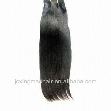 light Yaki Straight 100%Indian remy Human Hair weave natural black