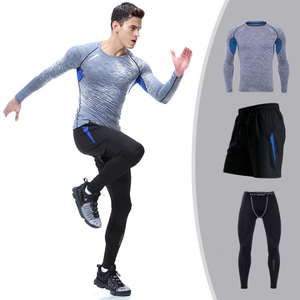 high quality custom design fitness mens gym sports muscle bodybuilding compression skin tight t shirt