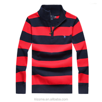 2015 high quality classy fall winter half zip up mens polo high collar sweaters