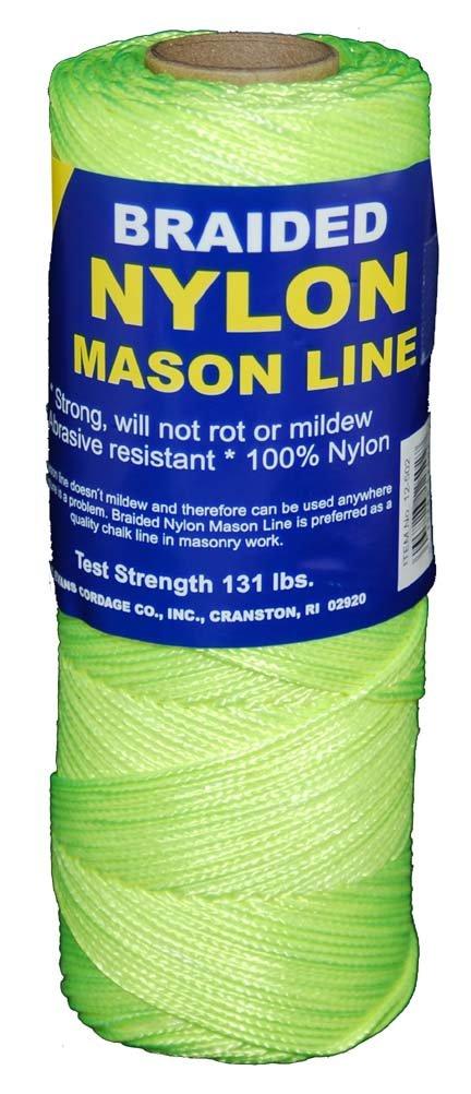 T.W . Evans Cordage 12-532 Number-1 Braided Nylon Mason, 500-Feet, Fluorescent Yellow